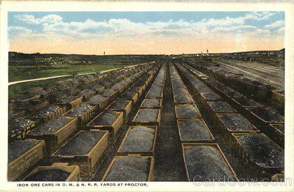 Iron Ore Cars In D. M. & N. R. R. Yards At Proctor Minnesota