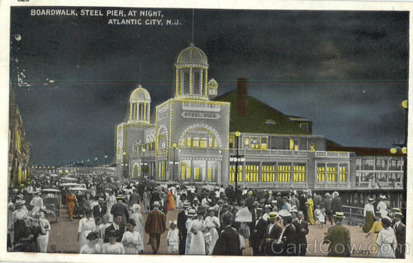 Boardwalk Steel Pier At Night Atlantic City New Jersey