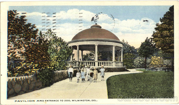Pavilion And Entrance To Zoo Wilmington Delaware