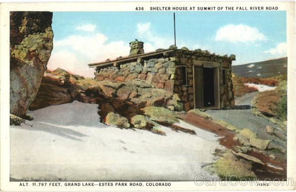 Shelter House At Summit Of The Fall River Road Estes Park Colorado