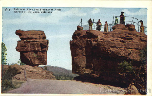 Balanced Rock And Steamboat Rock, Garden of the Gods Colorado