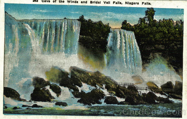 Cave Of The Winds And Bridal Vell Falls Niagara Falls New York