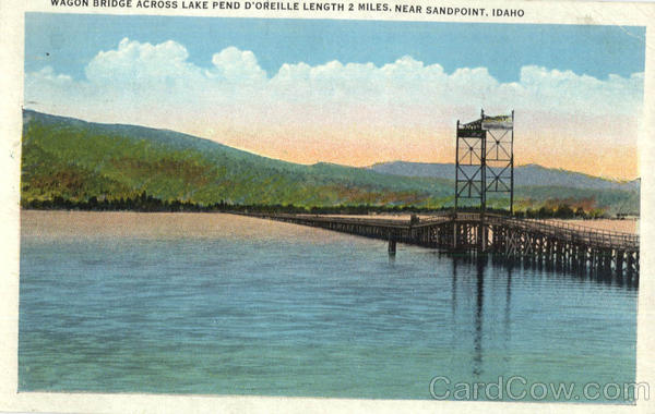 Wagon Bridge Across Lake Pend D'Oreille Sandpoint Idaho