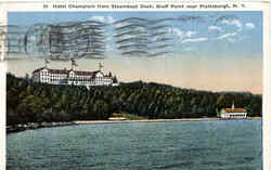 Hotel Champlain From Steamboat Dock, Bluff Point