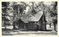 Historical Society's Log Cabin In Park