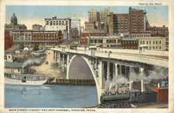 Main Street Viaduct And Ship Channel