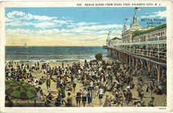 Beach Scene From Steel Pier