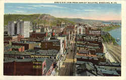 Bird's Eye View From Hawley Building Postcard
