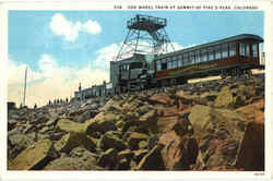 Cog Wheel Train At Summit Of Pike's Peak