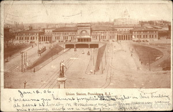 Birds Eye View of Union Station Providence Rhode Island