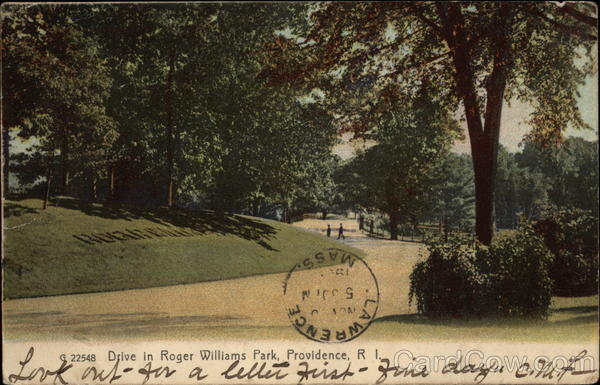 Scenic Drive in Roger Williams Park Providence Rhode Island