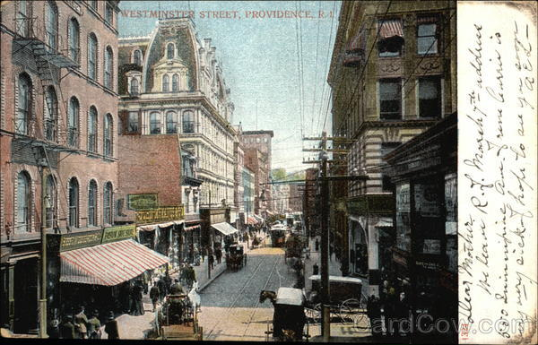 View of Westminster Street Providence Rhode Island