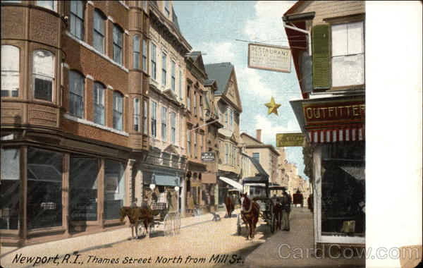 View of Thames Street North from Mill Street Newport Rhode Island