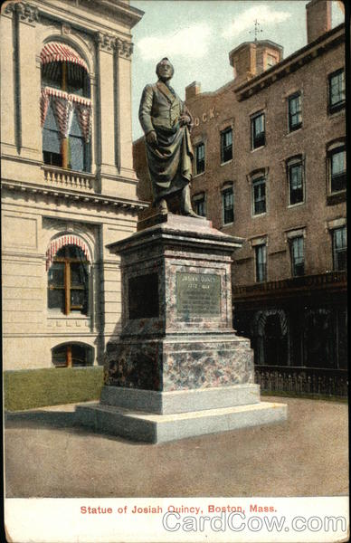 Statue of Josiah Quincy Boston Massachusetts