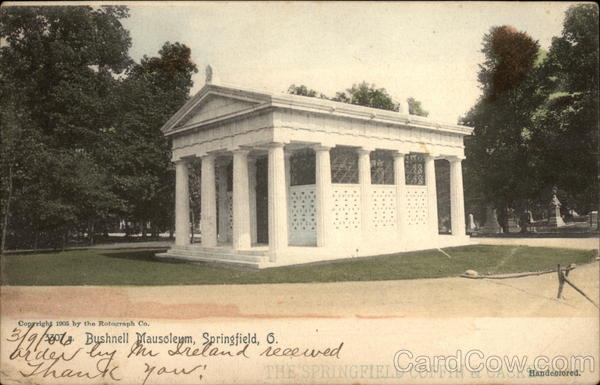 Bushnell Mausoleum and Grounds Springfield Illinois