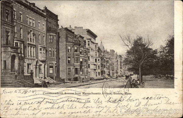 Commonwealth Avenue from Massachusetts Avenue Boston