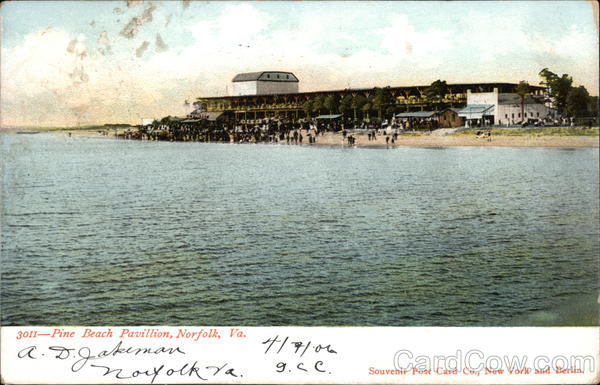 View of Pine Beach Pavillion from the Water Norfolk Virginia