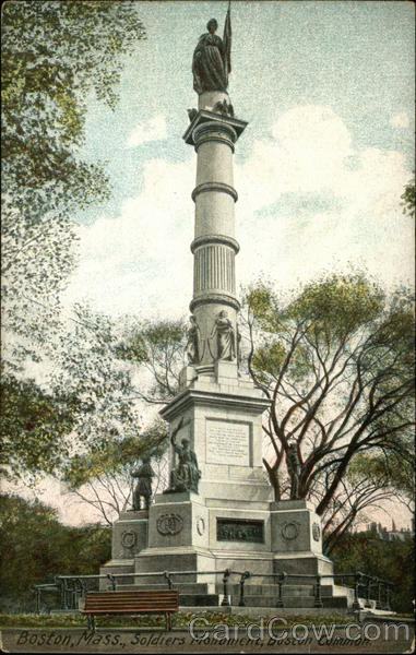 Soldiers Monument in Boston Common Massachusetts