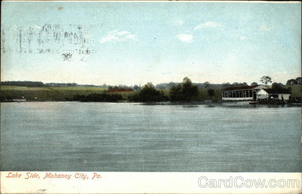 Lake Side Mahanoy City Pennsylvania
