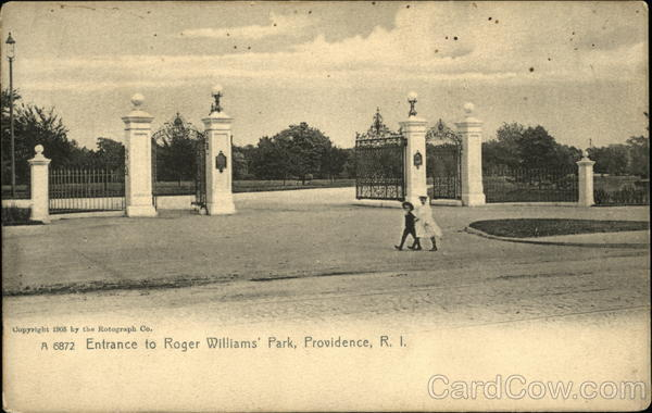Roger Williams Park - Entrance Providence Rhode Island