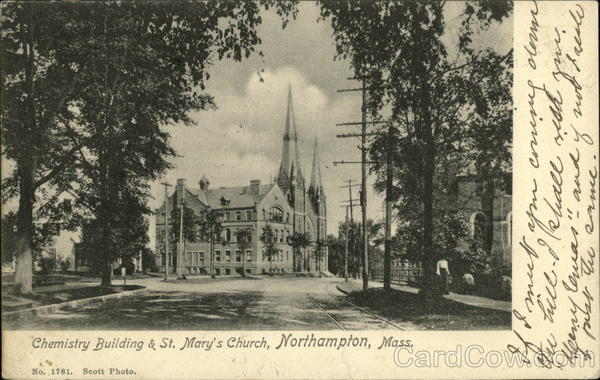 Chemistry Building & St. Mary's Church Northampton Massachusetts