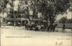 Horse Drawn Carriages in front of Washington Hotel