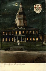 State House at Night and State Seal