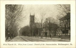 West Fourth Street, West from Locust, Church of the Annunciation