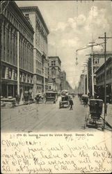 17th Street Looking Toward The Union Depot