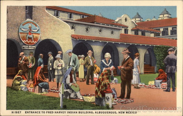 Entrance to Fred Harvey Indian Building Albuquerque New Mexico