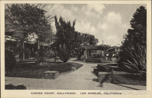 Carver Court, Hollywood Los Angeles California