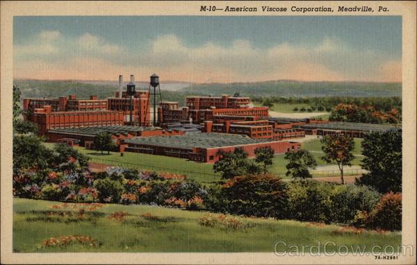 American Viscose Corporation Meadville Pennsylvania