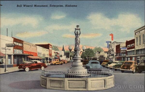 Boll Weevil Monument Enterprise Alabama