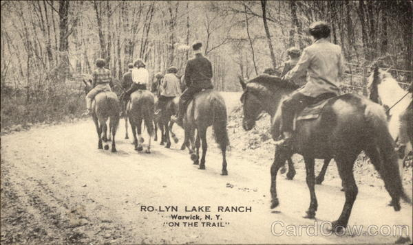 On the Trail at Ro-Lyn Lake Ranch Warwick New York