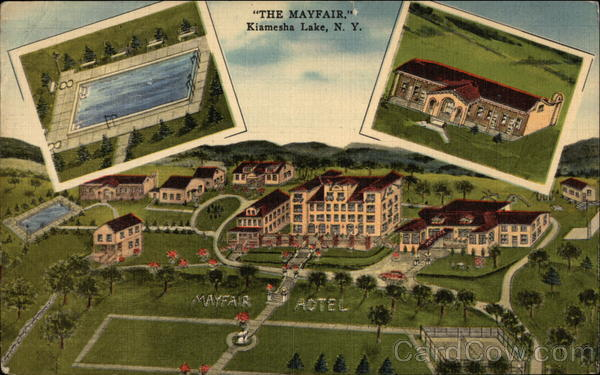 Aerial View of The Mayfair Hotel Kiamesha Lake New York