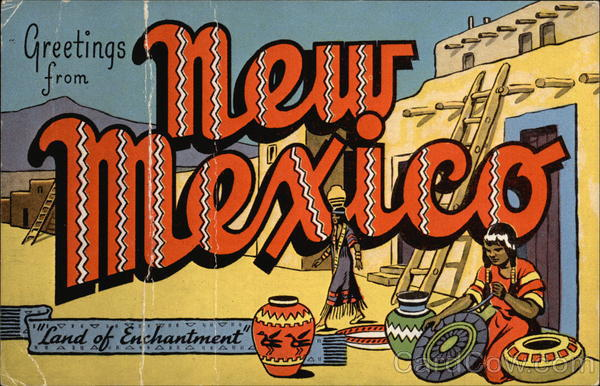 M Letter Wallpaper Greetings from New Mex...