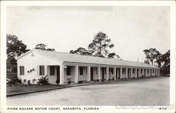Pines square motor court sarasota fl for Sarasota motor vehicle registration