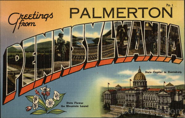 Greetings from Palmerton Pennsylvania Large Letter