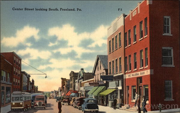 Center Street, Looking South Freeland Pennsylvania