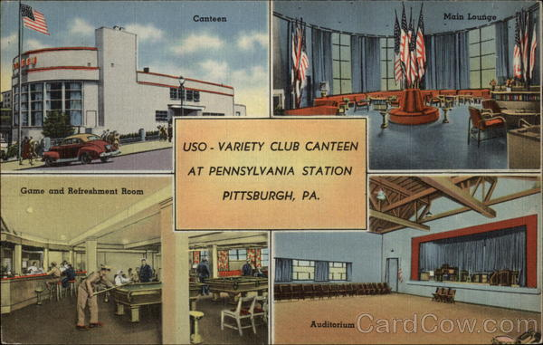 USO-Variety Club Canteen at Pennsylvania Station Pittsburgh