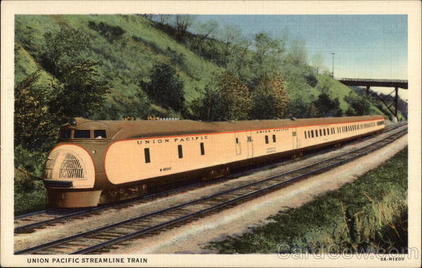 Union Pacific Streamline Train Trains, Railroad