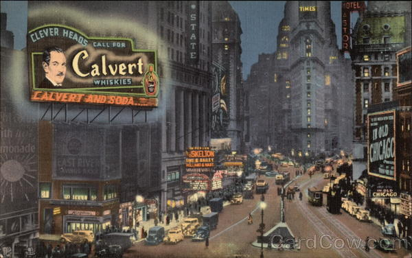 Calvert's Spectacular Electric Sign - Times Square New York City