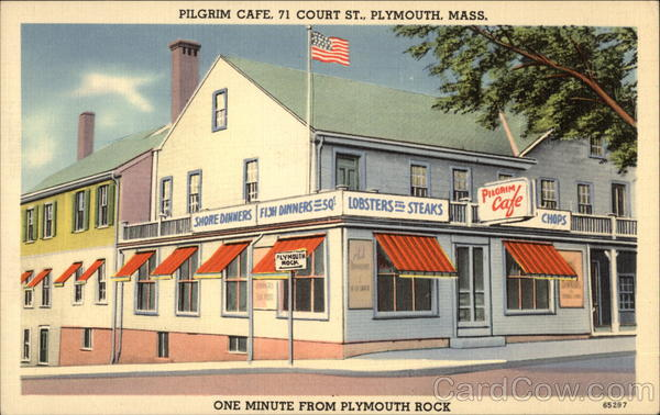 Pilgrim Cafe - 71 Court Street - One Minute from Plymouth Rock Massachusetts