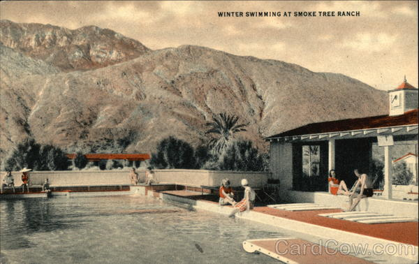 Winter Swimming at Smoke Tree Ranch Palm Springs California