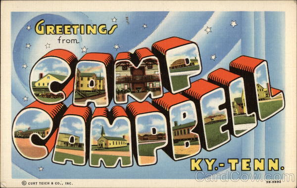 Greetings From Camp Campbell, Ky.-Tenn Large Letter