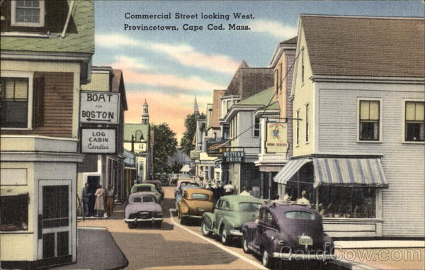 Commercial Street, Looking West Provincetown Massachusetts