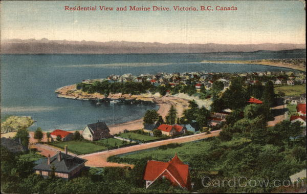 Residential View and Marine Drive Victoria Canada British Columbia