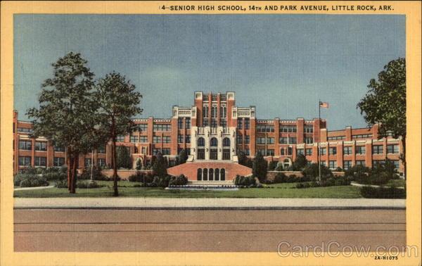 Senior High School at 14th & Park Avenue Little Rock Arkansas