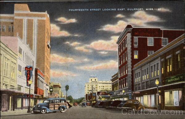 Fourteenth Street Looking East Gulfport Ms
