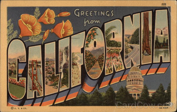 Greetings from California Large Letter